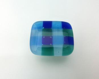 ブロックチェック ブルー 64