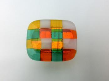 ブロックチェック オレンジ 65