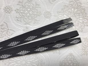 帯締め(三分紐)ダイヤモンドライン黒 344