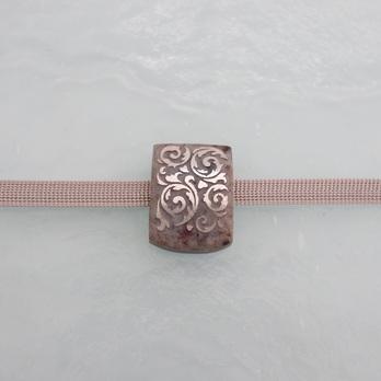 グラニテ唐草(シルバー)石模様419